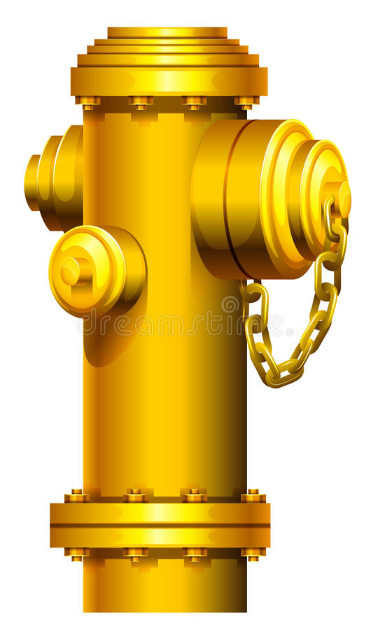 A fire hydrant. On a white background vector illustration