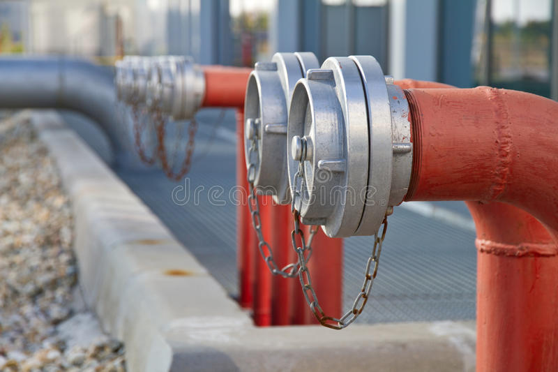 Fire hydrants royalty free stock photo
