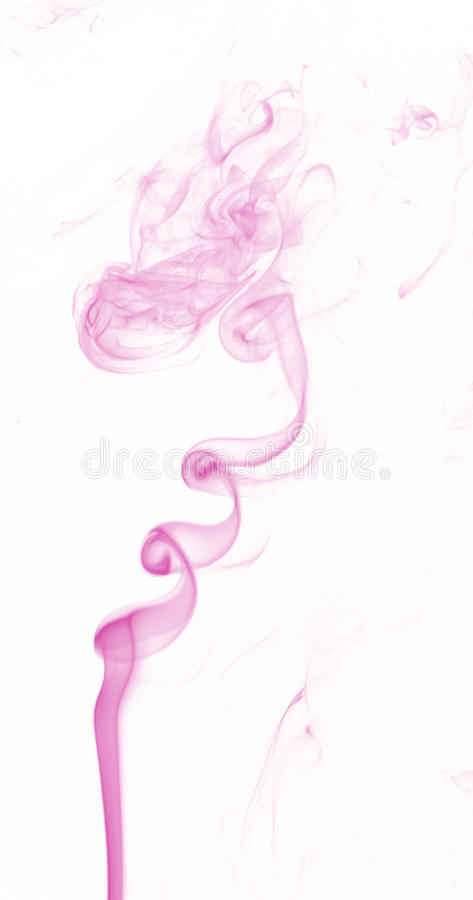 Fire and ice design. Abstract color smoke on white background: fire and ice design stock photo