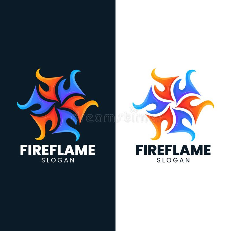Fire ice flame abstract blaze hot logo stock illustration
