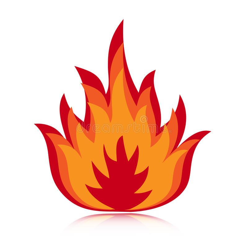 Fire icon. Illustration of a fire icon isolated on white background. EPS file available royalty free illustration