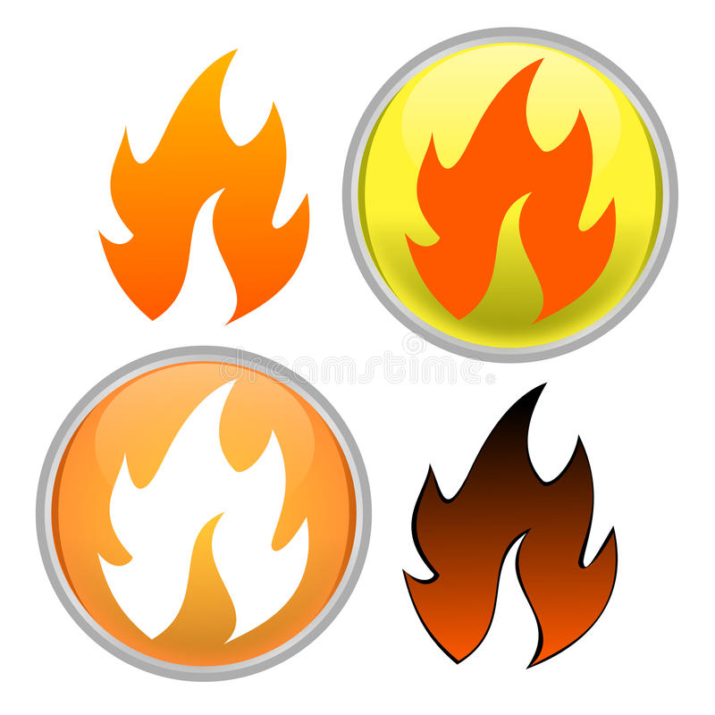 Download Fire icon stock illustration. Illustration of internet - 15236578
