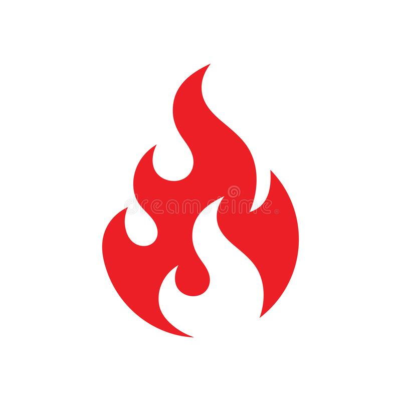 Free Fire Icon Design. Red Flame Sign. Ignite Dangerous Vector Symbol. Stock Images - 198431244
