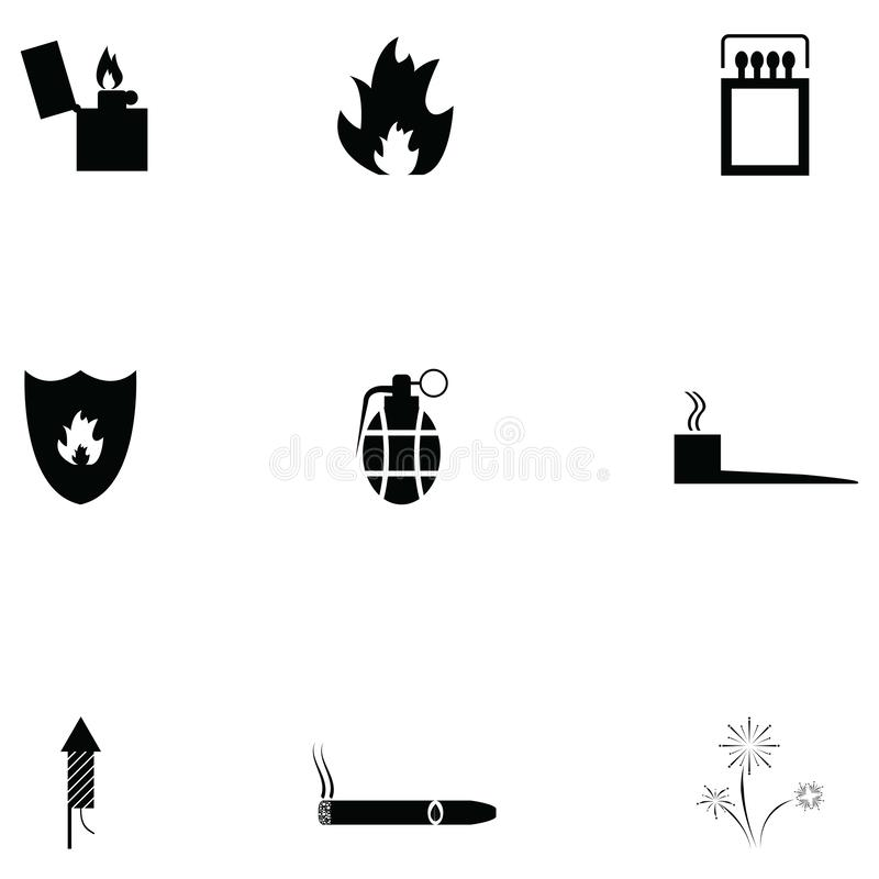 Fire icon set. The fire of icon set vector illustration