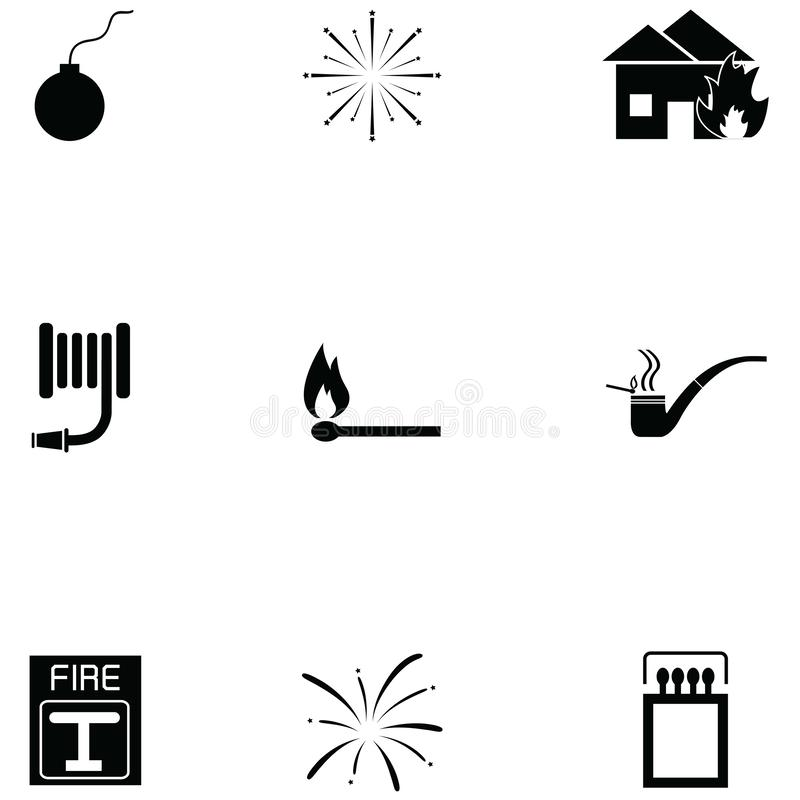 Fire icon set. The fire of icon set royalty free illustration