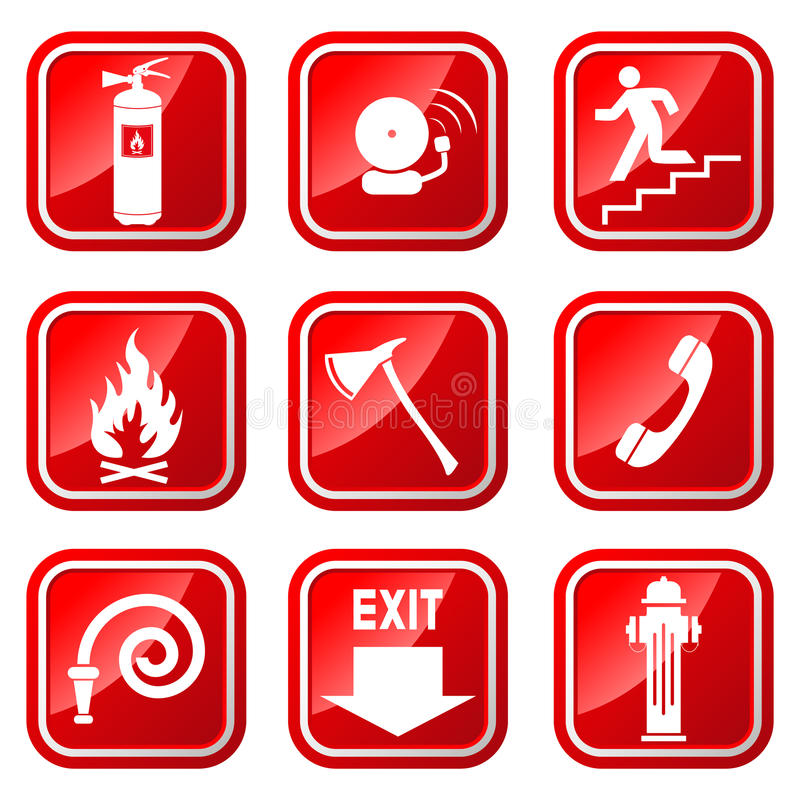 Free Fire Icons Stock Image - 31570001