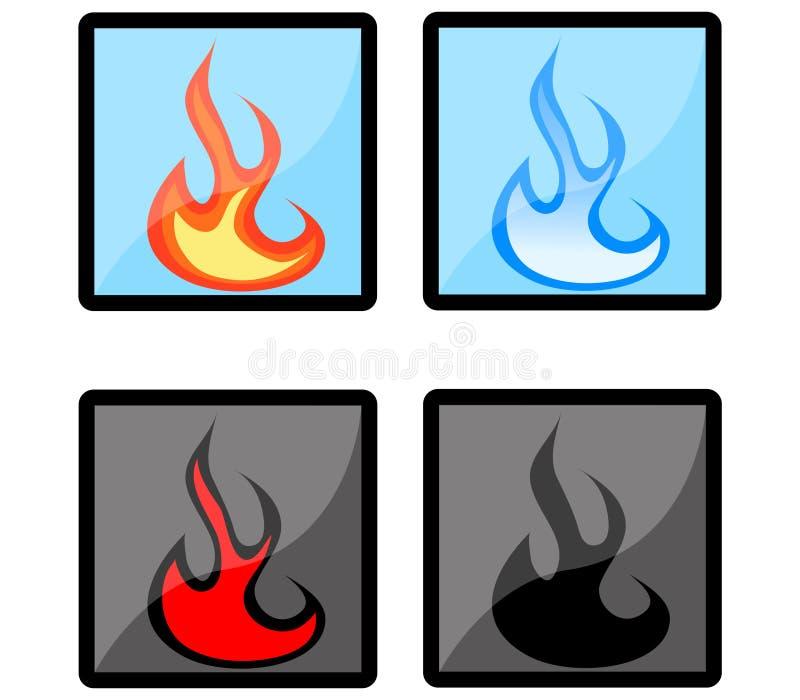 Fire Icons stock photos