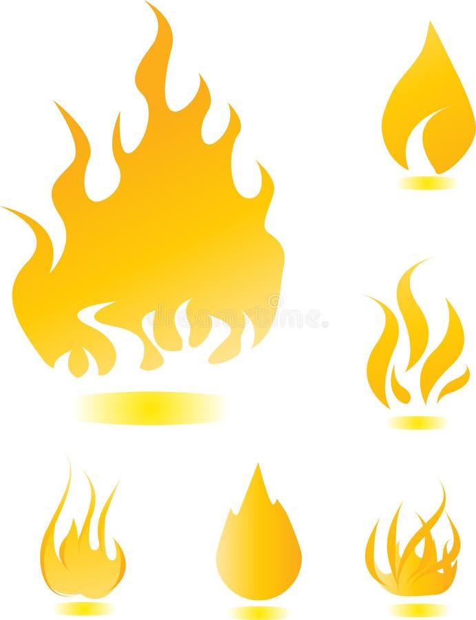 Fire icons set royalty free illustration