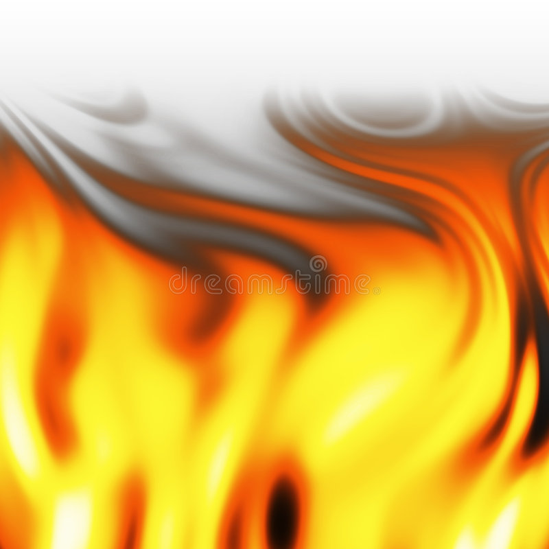 Fire inferno. An abstract picture of a fire flames royalty free illustration