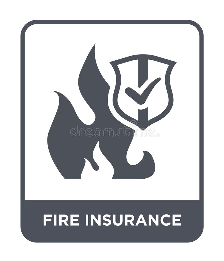 Fire insurance icon in trendy design style. fire insurance icon isolated on white background. fire insurance vector icon simple. And modern flat symbol for web stock illustration