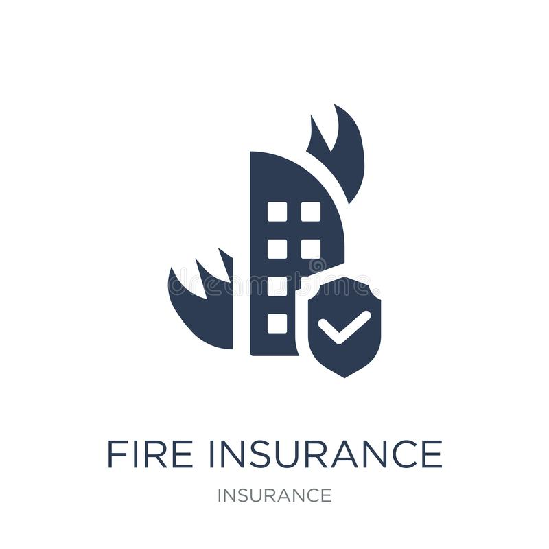 Fire insurance icon. Trendy flat vector Fire insurance icon on w. Hite background from Insurance collection, vector illustration can be use for web and mobile vector illustration