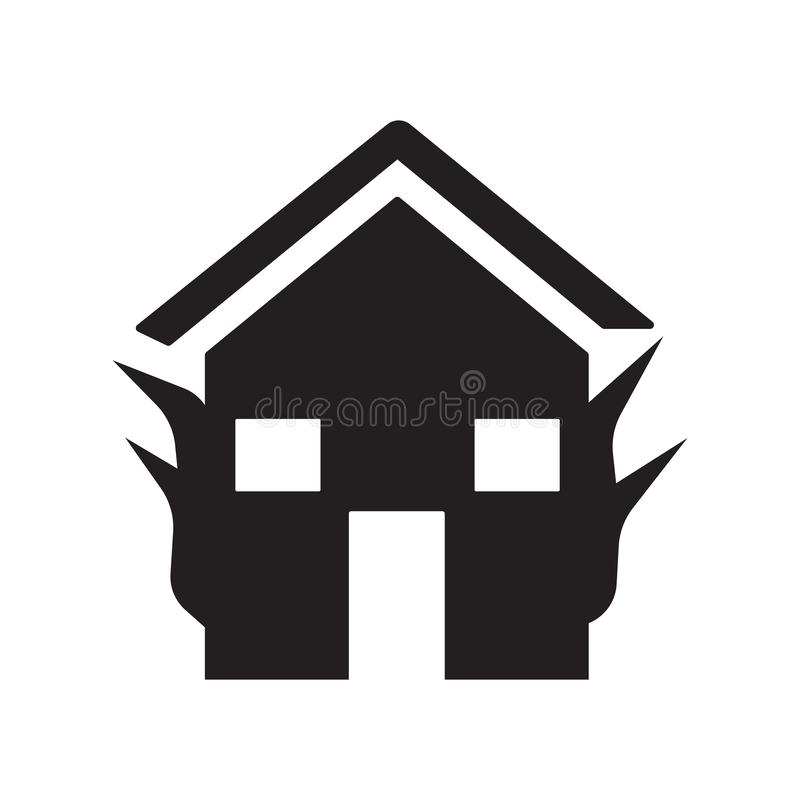 Fire insurance icon. Trendy Fire insurance logo concept on white. Background from Insurance collection. Suitable for use on web apps, mobile apps and print stock illustration