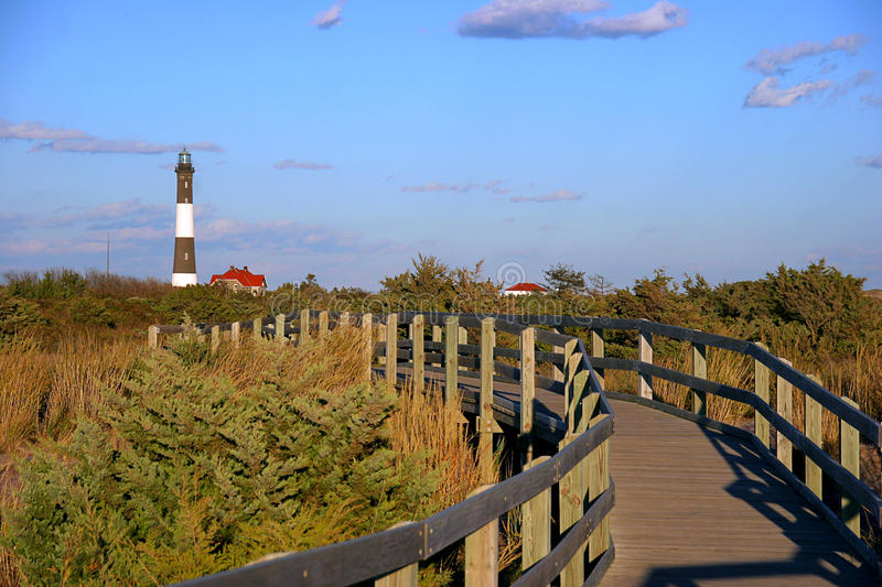Fire Island Lighthouse stock images