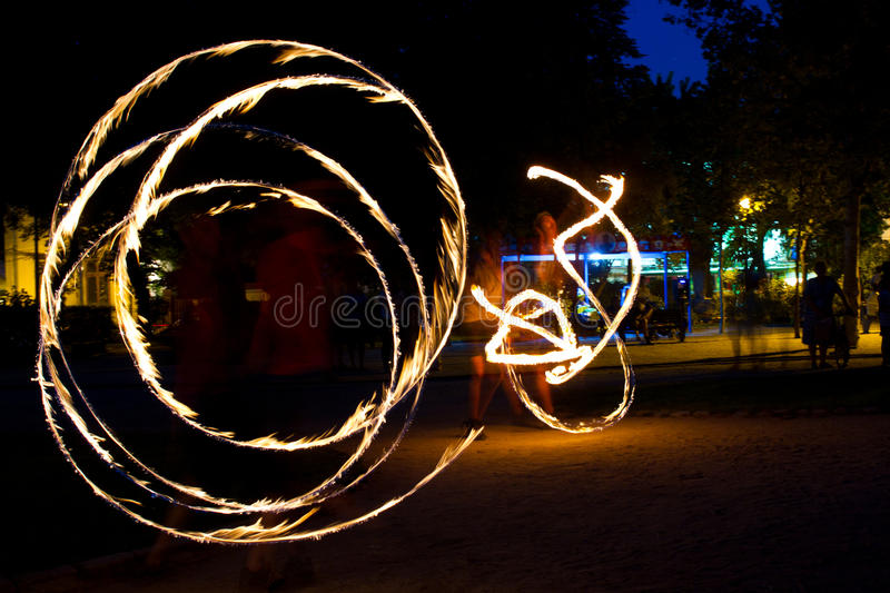 Download Fire jugglers editorial stock image. Image of event, heat - 25307804