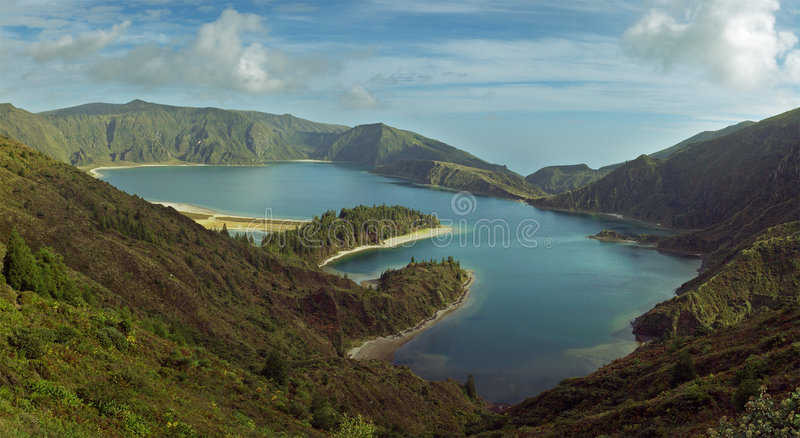 Fire Lagoon, Azores stock photo