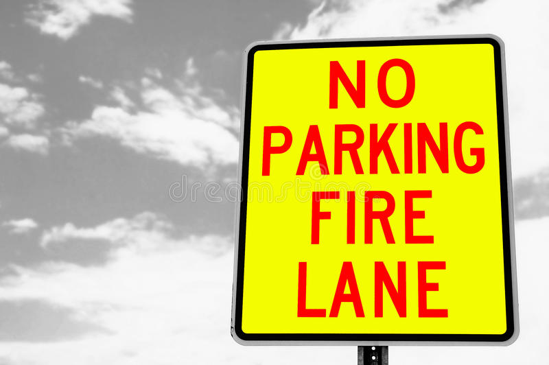 Download Fire lane stock image. Image of restricted, pole, clip - 11482657