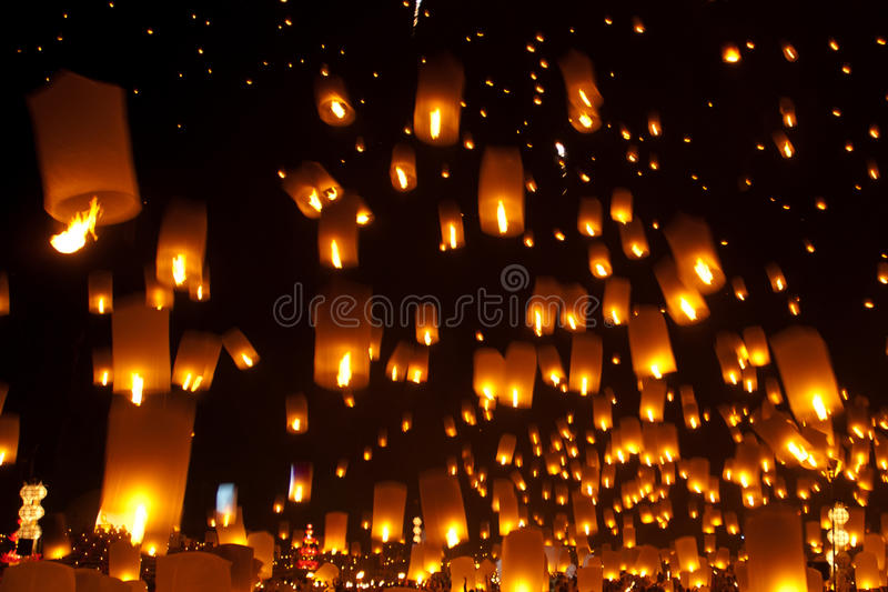 Fire lantern. royalty free stock photos