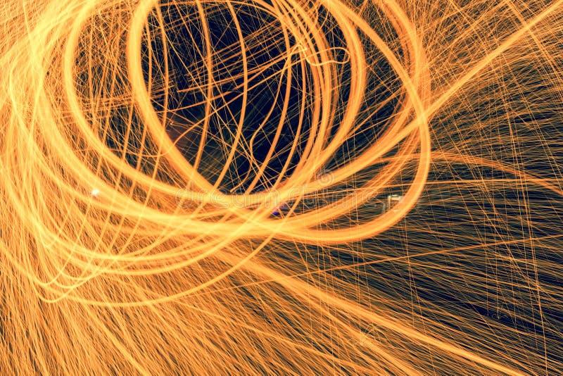 Fire, Light, Streaks royalty free stock photography