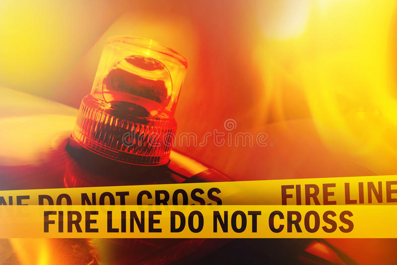 Fire Line Do Not Cross royalty-vrije stock afbeeldingen