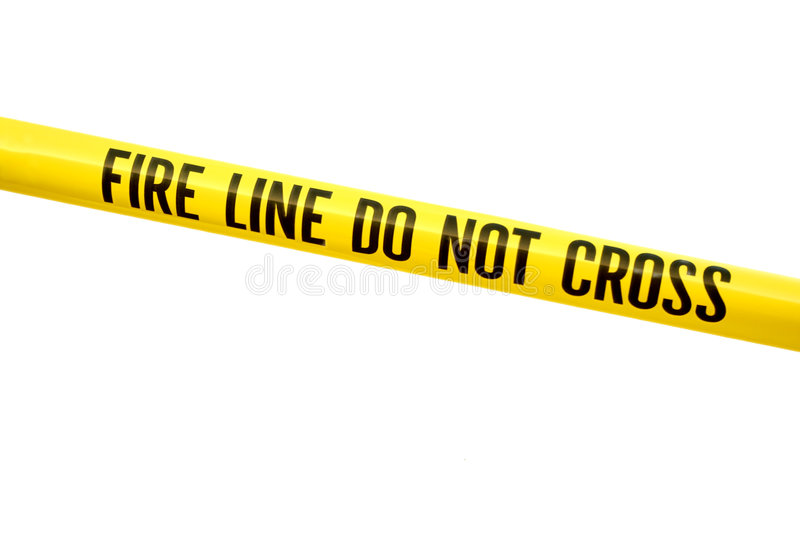Fire line tape stock images