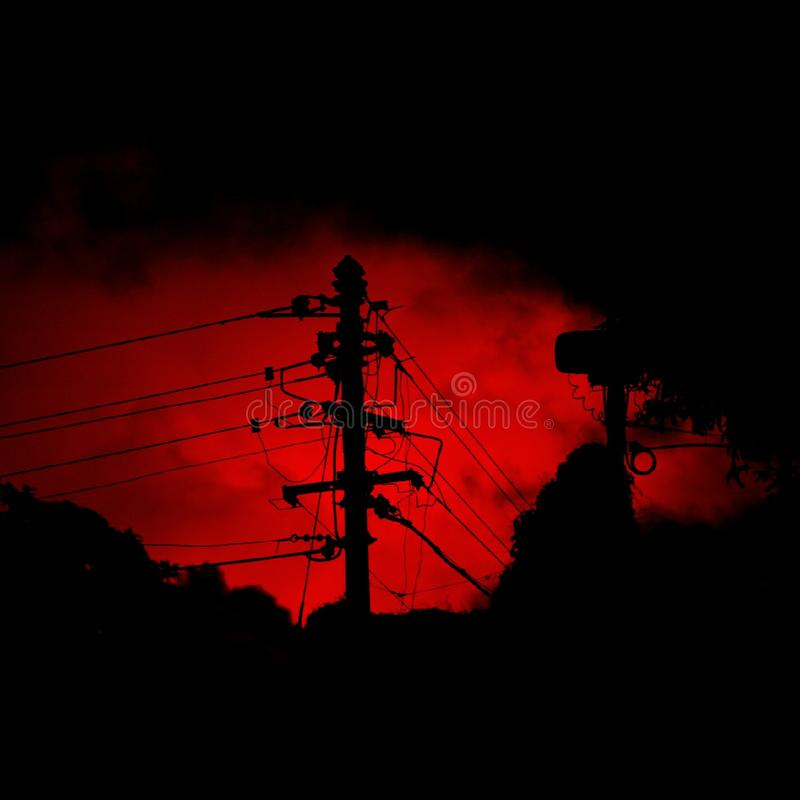 Fire lit sky! royalty free stock images