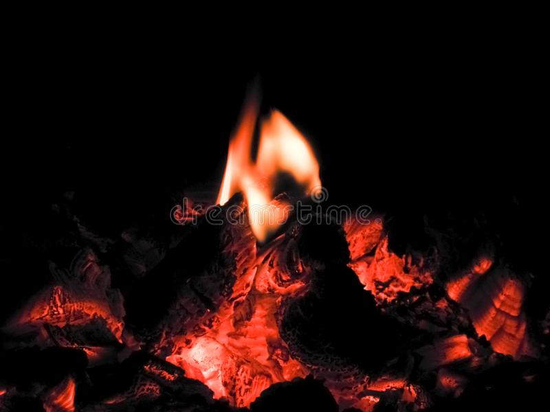 Fire a little bonfire royalty free stock photography