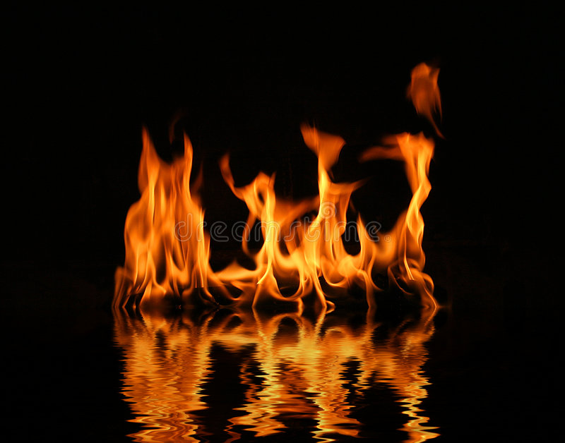 Fire log flame stock image