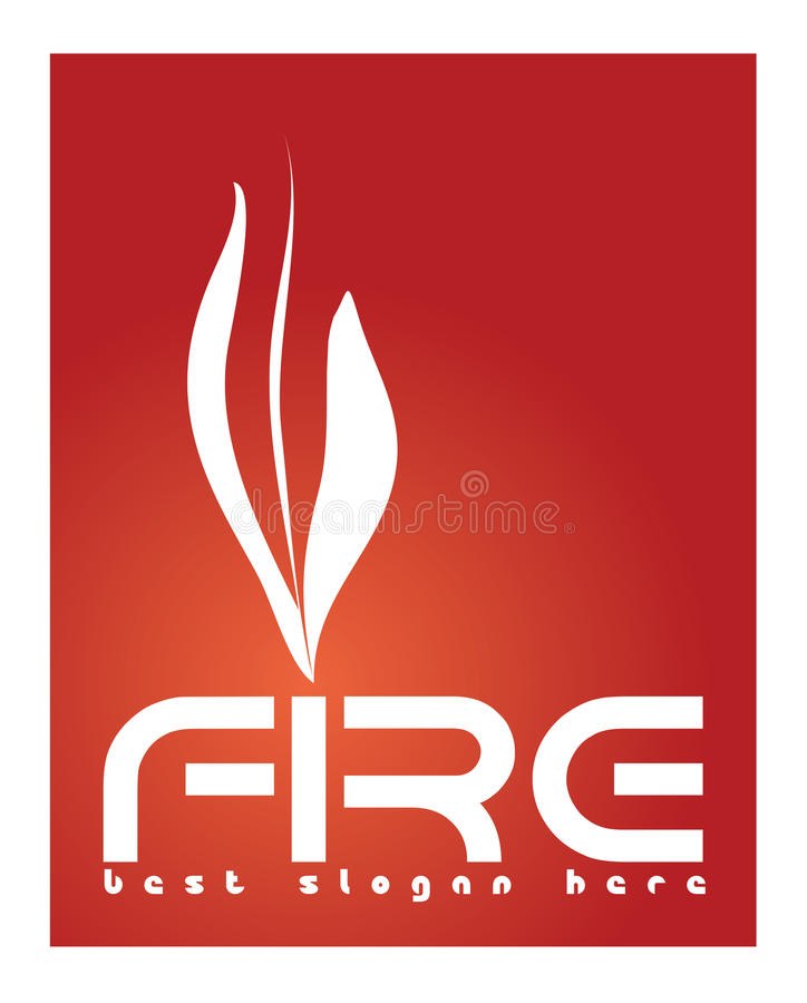 Fire Logo Concept. Vector logo template depicting a fire suitable for business that sells fireplaces, lighters, products that use fire stock illustration
