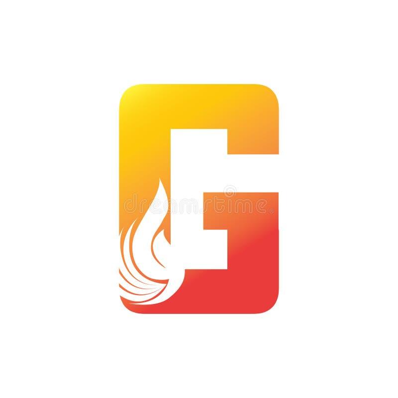 A Letter Flame Logo Design  Fire Logo Lettering Concept  Stock