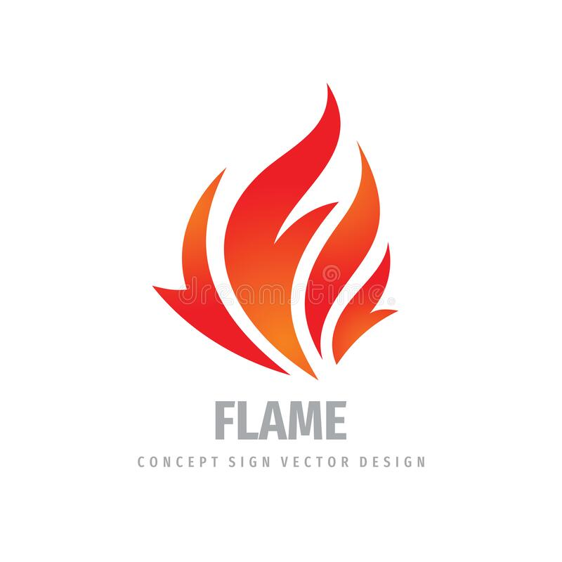 Free Fire Logo Graphic Design. Flame Concept Icon. Ignite Red Sign. Dangerous Vector Symbol. Royalty Free Stock Photos - 172576848