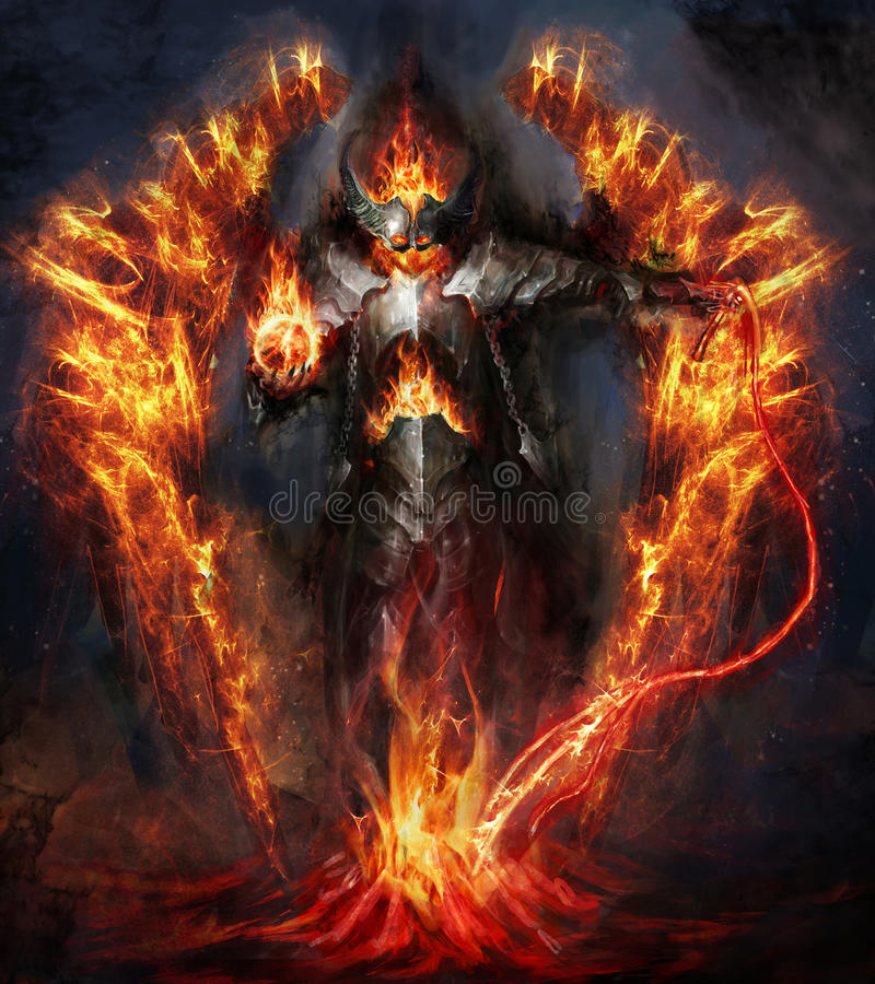 Fire lord. Rising from magma