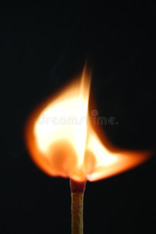 Fire in matches 3 royalty free stock photo