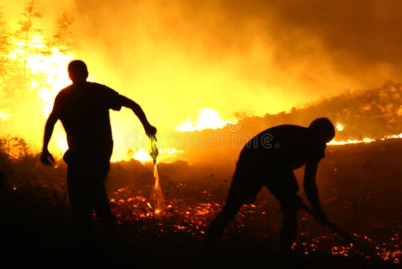 Fire in Montenegro stock image