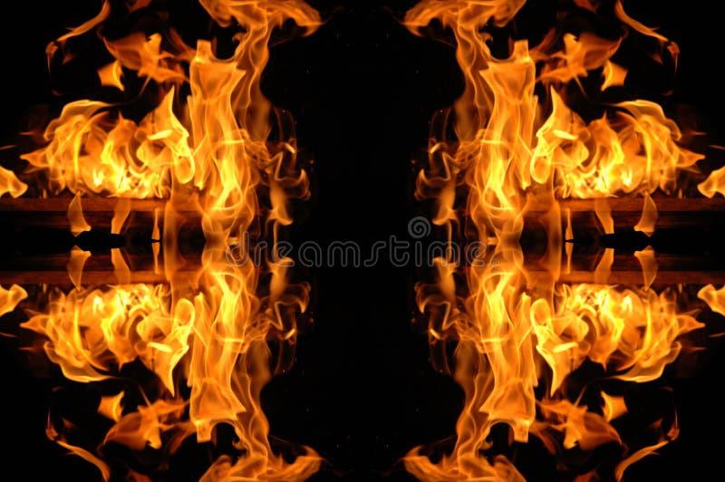 Fire mosaic stock photo