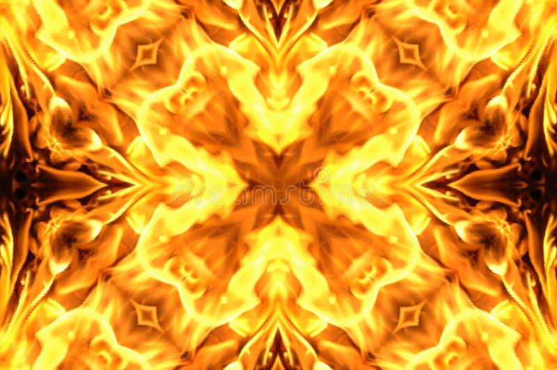 Fire mosaic stock image
