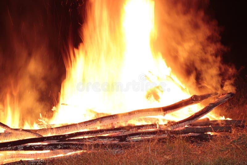 Fire nature ivana kupala royalty free stock images