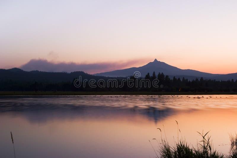 Fire Near Mt. Washington stock images
