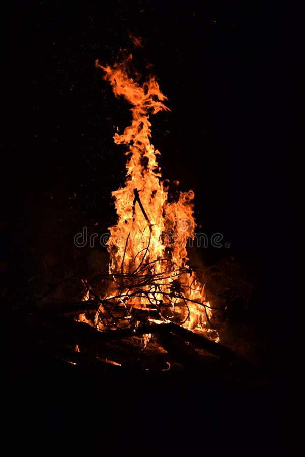 Fire at Night royalty free stock photos