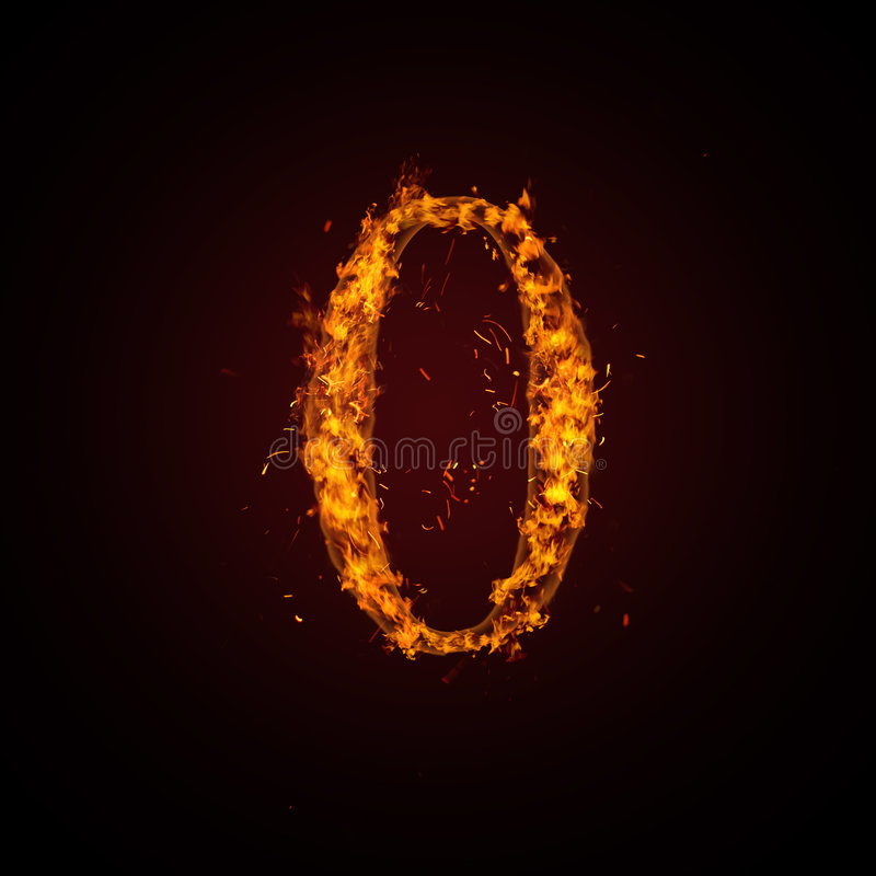 Download Fire number stock illustration. Illustration of engulfed - 7461723