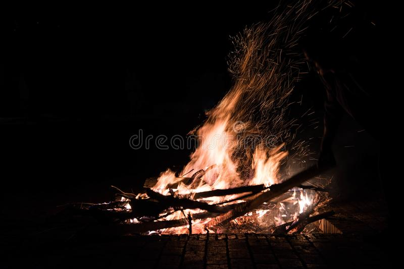 Fire outdoor,kunming stock photography