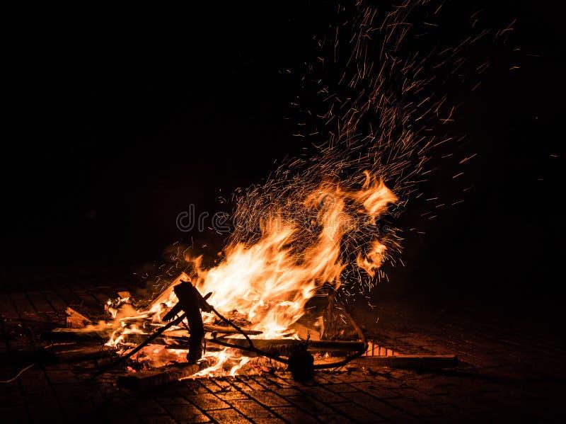 Fire outdoor,kunming royalty free stock photos