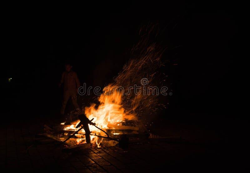 Fire outdoor,kunming stock image