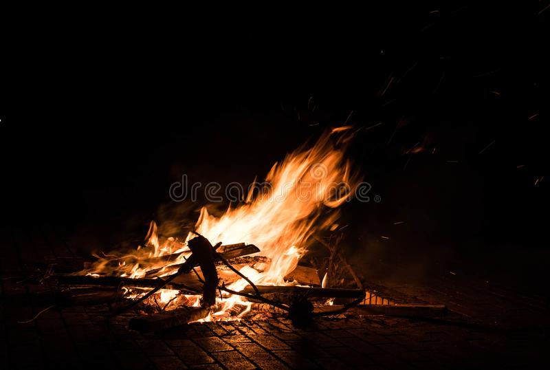 Fire outdoor,kunming royalty free stock images