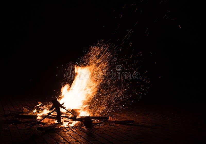 Fire outdoor,kunming stock photo