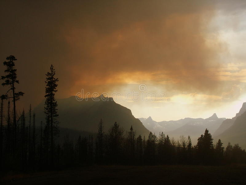 Fire Over St. Mary Valley royalty free stock photo