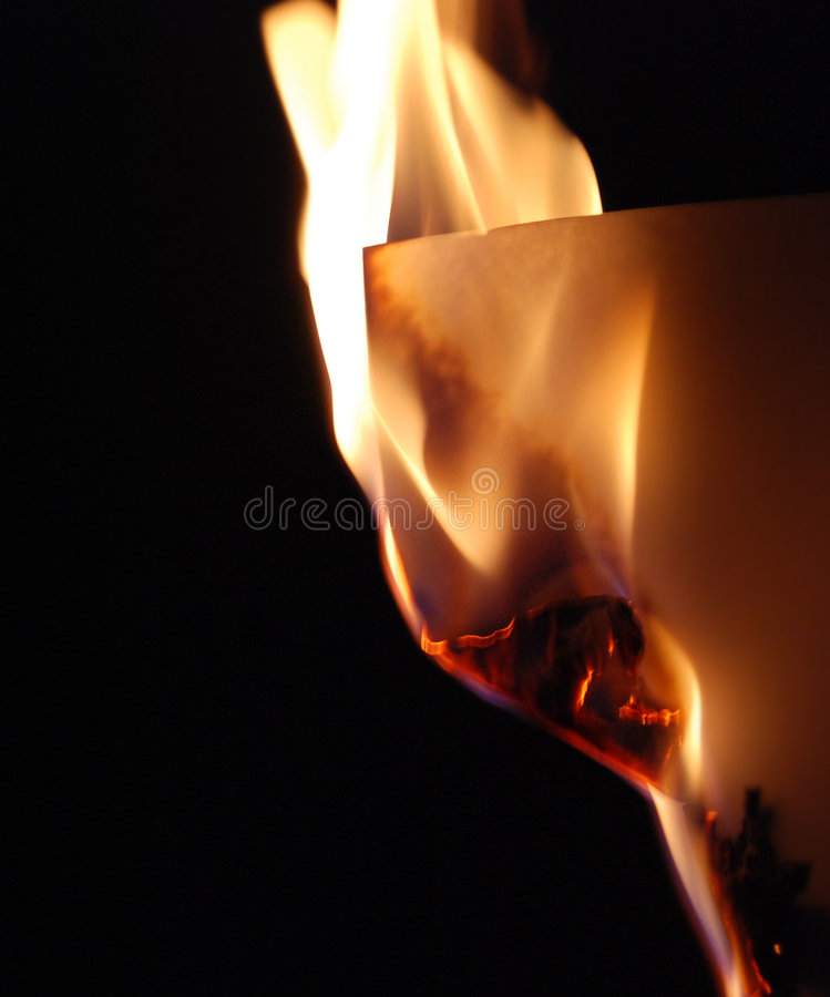 Fire paper royalty free stock photos