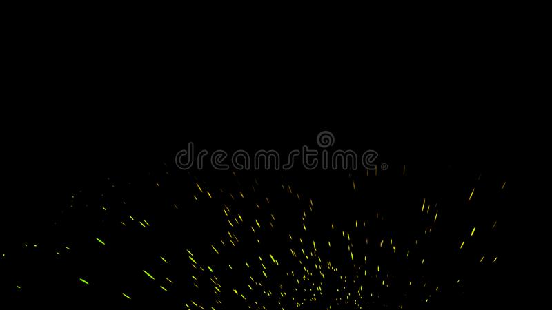 Fire particles effect dust debris isolated on black background, motion powder spray burst. Design element. Fire particles effect dust debris isolated on black royalty free stock photos