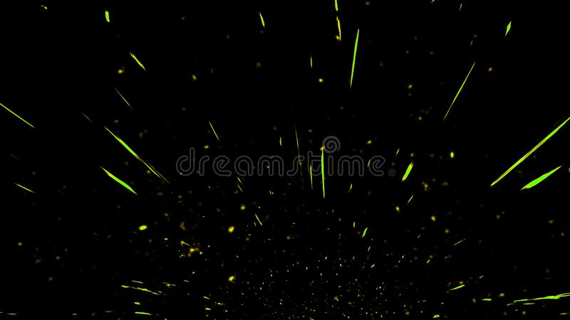 Fire particles effect dust debris isolated on black background, motion powder spray burst. Design element. Fire particles effect dust debris isolated on black stock photography