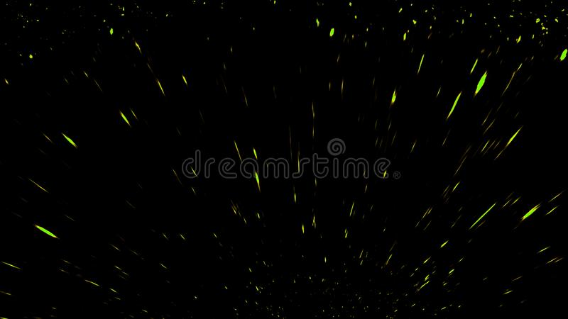 Fire particles effect dust debris isolated on black background, motion powder spray burst. Design element. Fire particles effect dust debris isolated on black royalty free stock images
