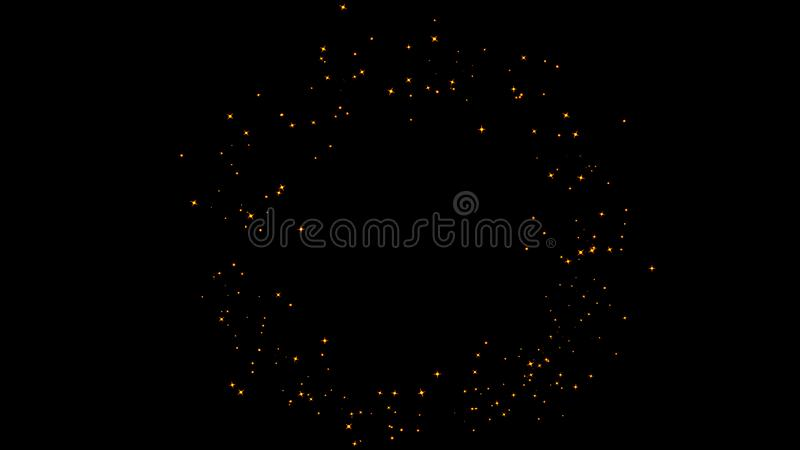 Fire particles effect dust debris isolated on black background, motion powder spray burst. Design element. Fire particles effect dust debris isolated on black royalty free stock photo